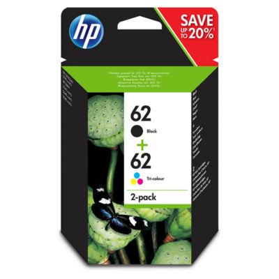 HP 62 Black & Colour Ink Cartridge
