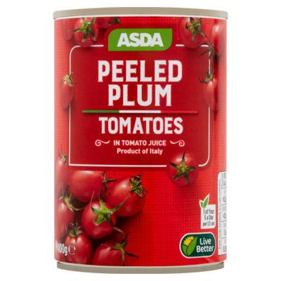 ASDA Italian Peeled Plum Tomatoes in Tomato Juice