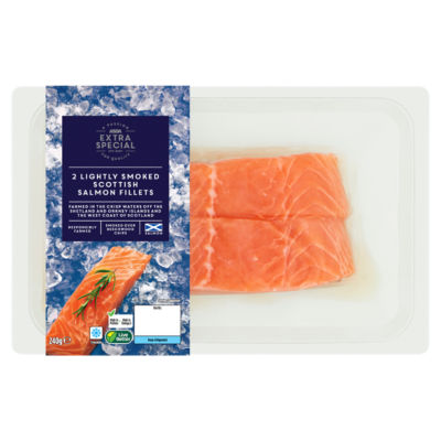 ASDA Extra Special Lightly Smoked Scottish Salmon Fillets