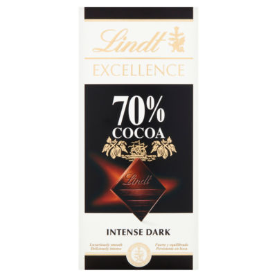 Lindt Excellence 70% Cocoa Dark Chocolate Bar