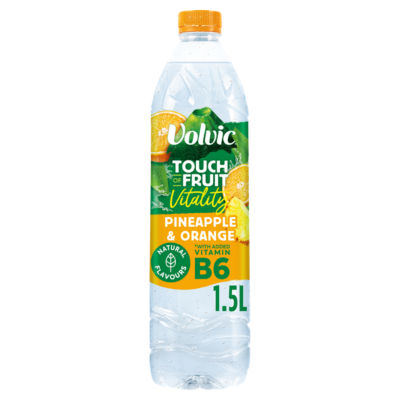 Volvic Touch of Fruit Low Sugar Pineapple & Orange Vitality Natural Flavoured Water