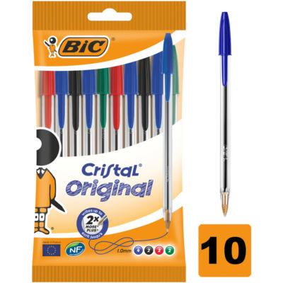 Bic Cristal Assorted Medium Ball Pens
