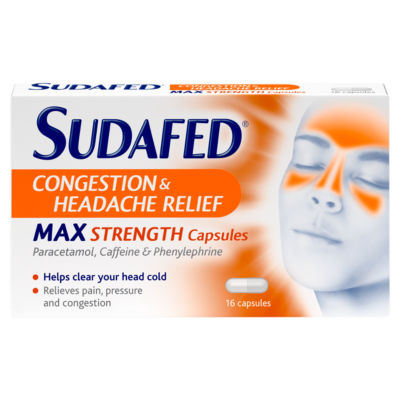 Sudafed Congestion & Headache Relief Max Strength Capsules Capsules