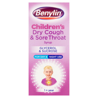 Benylin  Children's Dry Cough & Sore Throat Syrup 1+ Year