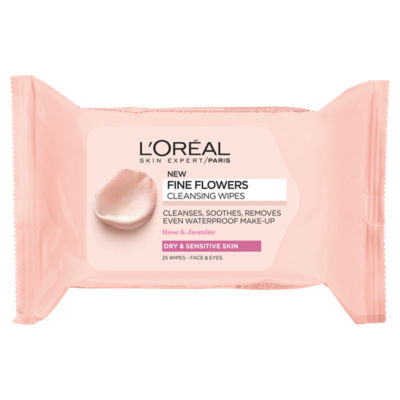 L'Oreal Fine Flowers Cleansing Wipes-Dry and Sensitive Skin