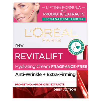 L'Oreal Revitalift Fragrance Free Lifting Day Cream with Natural Probiotic Extracts