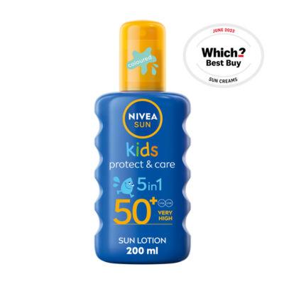 Nivea Sun Kids Suncream Spray SPF 50+ Coloured
