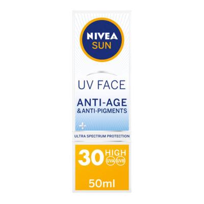 Nivea Sun Uv Face Suncream SPF 30 Q10 Anti-Age & Anti-Pigments