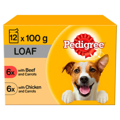 Pedigree Mixed Selection in Loaf Adult Dog Food Pouches