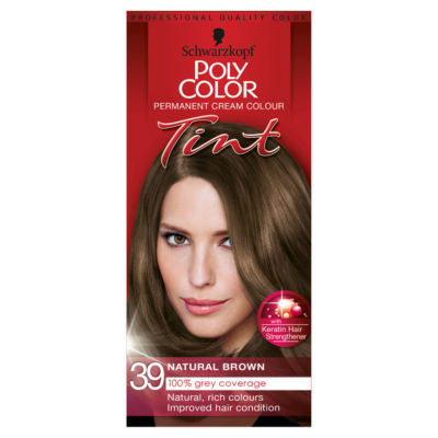Schwarzkopf Poly Color Permanent Cream Colour Tint Natural Brown 39