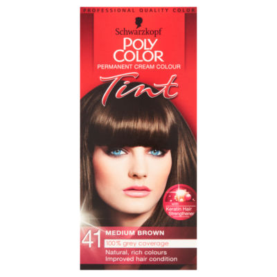 Schwarzkopf Poly Color Permanent Cream Colour Tint Medium Brown 41