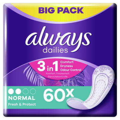 Always Dailies Fresh & Protect Normal Panty Liners