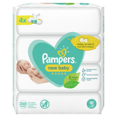 Pampers New Baby Sensitive Baby Wipes 4 Packs