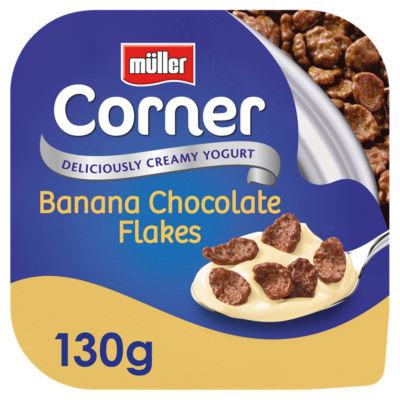 Muller Corner Banana Yogurt with Chocolate Flakes