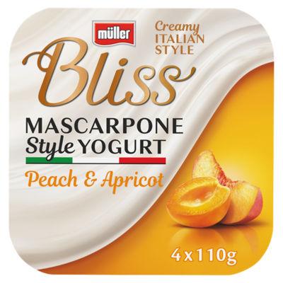Muller Bliss Creamy Mascarpone Peach & Apricot Yogurt