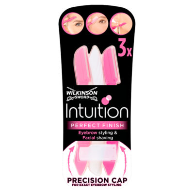 Wilkinson Sword Intuition Perfect Finish Women's Eyebrow Styling & Facial Shaving