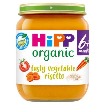 HiPP Tasty Vegetable Risotto Baby Food Jar 6+ Months