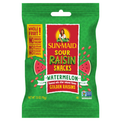 Sun Maid Sour Raisin Snacks Watermelon