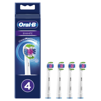 Oral-B 3D White Electric Toothbrush Replacement Heads (4pk)