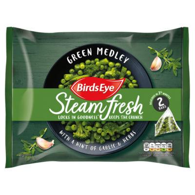 Birds Eye 2 Steamfresh Green Medley with Garlic & Herbs