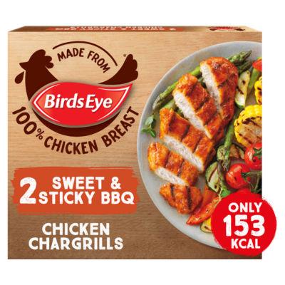 Birds Eye 2 Sweet & Sticky BBQ Chicken Chargrills