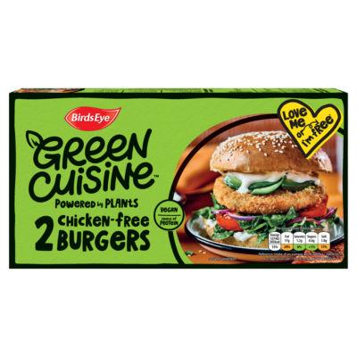 Birds Eye 2 Green Cuisine Chicken-Free Burgers