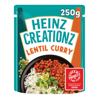 Heinz Creationz Lentil Curry with Dhal Spices & Tomatoes