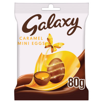Galaxy Caramel filled Chocolate Mini Easter Eggs Bag