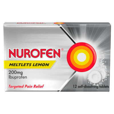 Nurofen Meltlets Self-Dissolving Ibuprofen Lemon Tablets