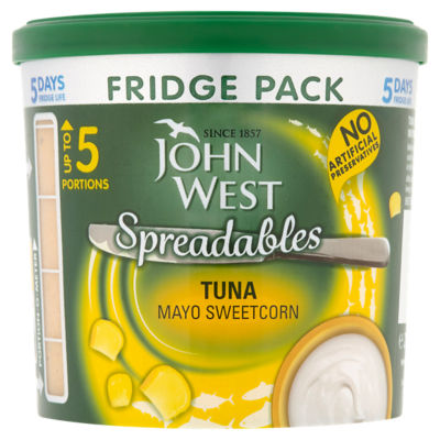 John West Spreadables Tuna Mayo with Sweetcorn Fridge Pack