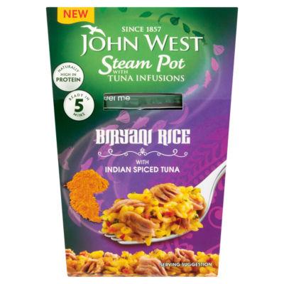 John West Steam Pot with Tuna Infusions Biryani Rice with Indian Spiced Tuna