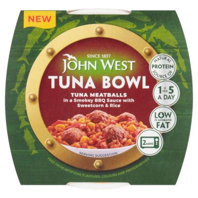 John West Tuna Bowl Tuna Meatballs in a Smokey BBQ Sauce with Sweetcorn & Rice