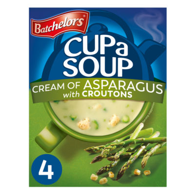 Batchelors Cup a Soup with Croutons Cream of Asparagus