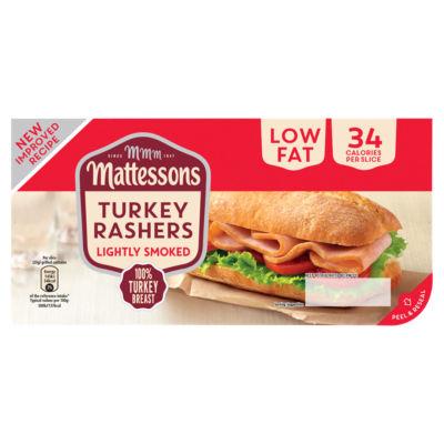 Mattessons Lightly Smoked Turkey Bacon Rashers