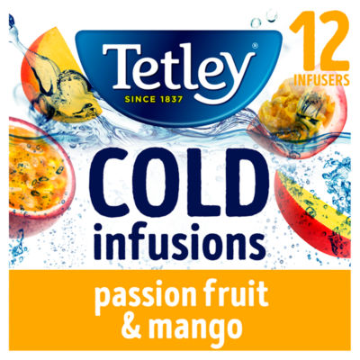 Tetley Cold Infusions Mango & Passionfruit Teabags 12 Pack