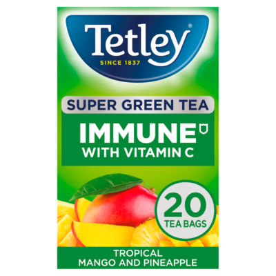 Tetley Immune Tropical Super Green Tea 20 Tea Bags