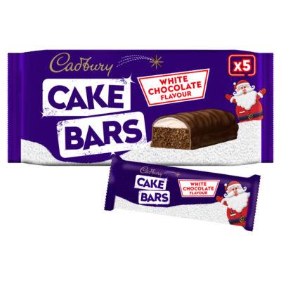 Cadbury White Chocolate Flavour Cake Bars