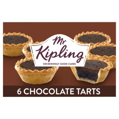 Mr Kipling 6 Chocolate Tarts