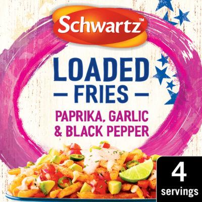 Schwartz Loaded Fries Paprika, Garlic & Black Pepper Seasoning