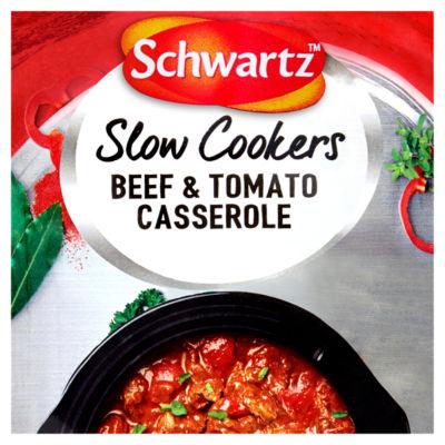 Schwartz Slow Cookers Beef & Tomato Casserole Recipe Mix