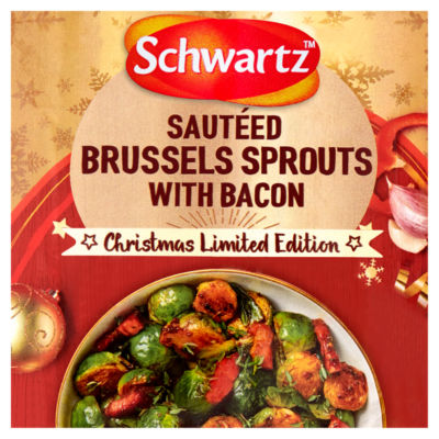 Schwartz Christmas Limited Edition Sautéed Brussels Sprouts with Bacon Recipe Mix