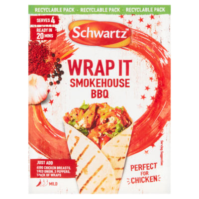 Schwartz Wrap It Smokehouse BBQ Recipe Mix