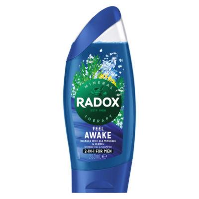 Radox Feel Awake for Men 2 in 1 Shower Gel & Shampoo