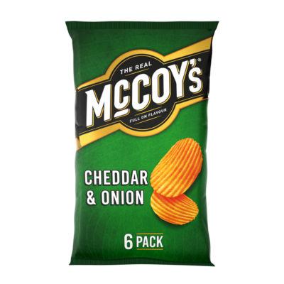 McCoy's Cheddar & Onion Multipack Crisps