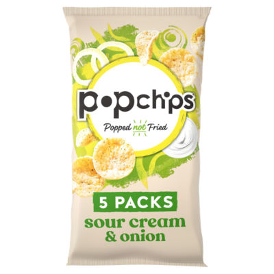 Popchips Sour Cream & Onion Multipack Crisps