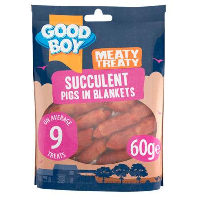 Good Boy Meaty Treaty Succulent Pigs in Blankets Dog Treats
