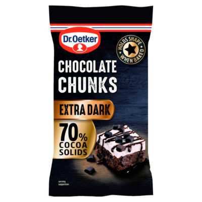 Dr. Oetker 70% Extra Dark Chocolate Chunks