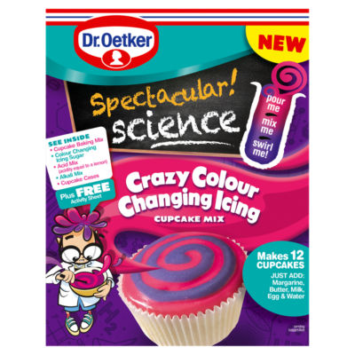 Dr. Oetker Spectacular Science Crazy Colour Changing Icing Cupcake Mix