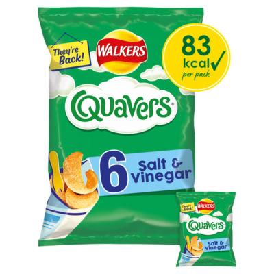 Walkers Quavers Salt & Vinegar Multipack Crisps