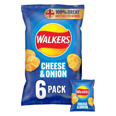 Walkers Cheese & Onion Multipack Crisps
